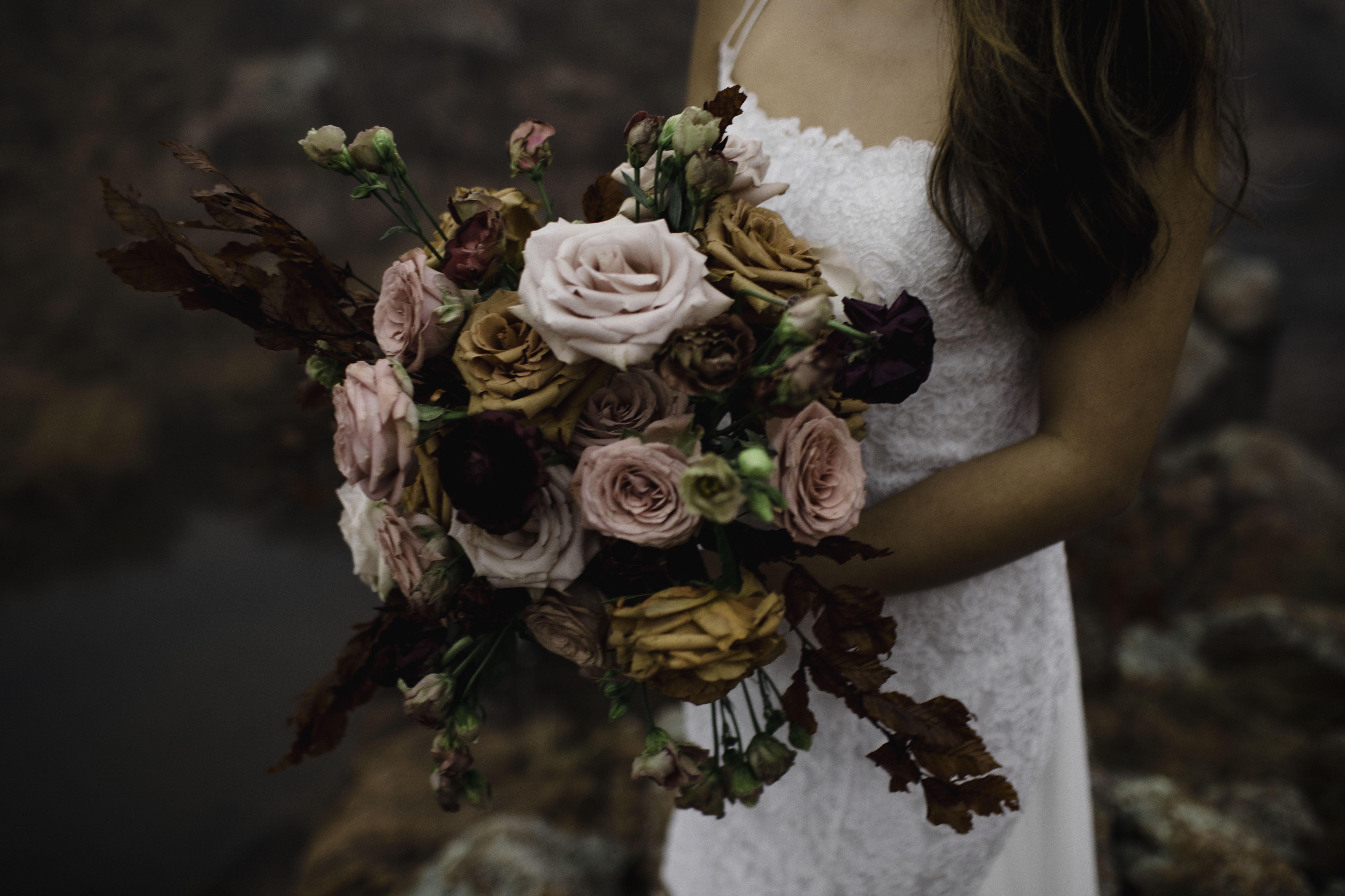 bride's bouquet at Wichita mountain wildlife refuge
