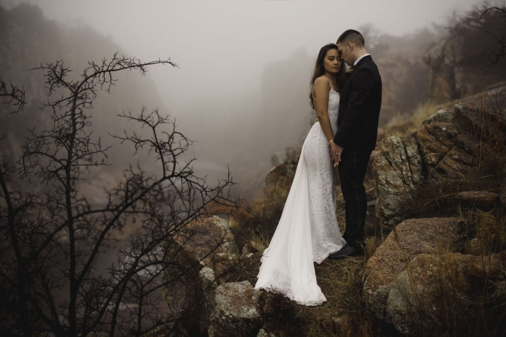 couple after elopement in oklahoma in a canyon for article 9 reasons to elope